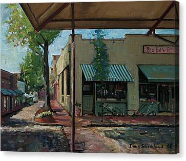 Big Eds Cafe Raleigh Nc Canvas Print by Doug Strickland