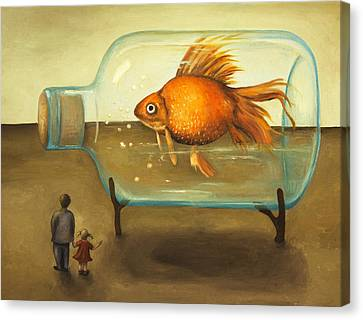 Big Fish Canvas Print by Leah Saulnier The Painting Maniac