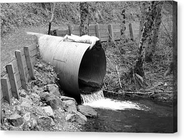 Big Kahuna Culvert Canvas Print by Marie Neder