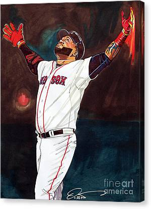 Big Papi David Ortiz Canvas Print by Dave Olsen