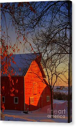 Big Red Barn Canvas Print by Julie Lueders