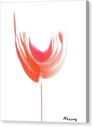 Big Red Flower Canvas Print by D Perry