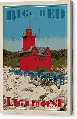 Big Red From The Pier Canvas Print by Michelle Calkins