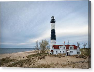 Big Sable Point Lightstation 1867 Canvas Print by Mary Lee Dereske