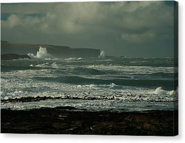 Big Sea. Slope Point Canvas Print by Terry Perham