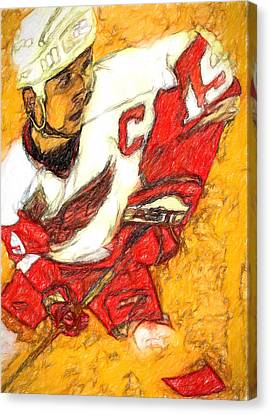 Big Shoulders Yzerman Canvas Print by John Farr