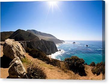 Big Sur And Bixby Bridge Califonia Canvas Print by Lorraine Kourafas