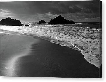 Big Sur Black And White Canvas Print by Pierre Leclerc Photography