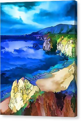 Big Sur Coast - Painterly Canvas Print by Bill Caldwell -        ABeautifulSky Photography