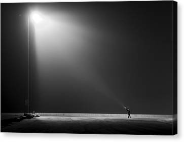Big Vs Small Canvas Print by Leif Londal