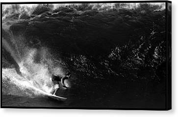 Big Wave Surfing Canvas Print by Brad Scott
