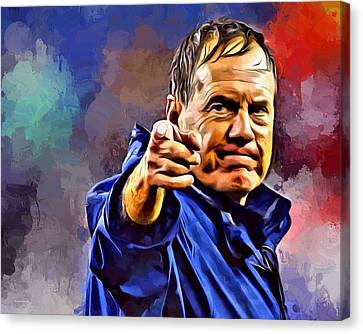 Bill Belichick Canvas Print by Scott Wallace