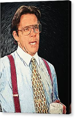 Bill Lumbergh - Office Space Canvas Print by Taylan Soyturk