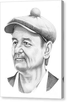 Bill Murray Canvas Print by Murphy Elliott