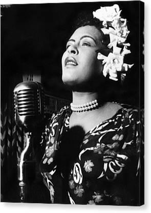 Billie Holiday Canvas Print by Everett