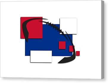 Bills Abstract Shirt Canvas Print by Joe Hamilton