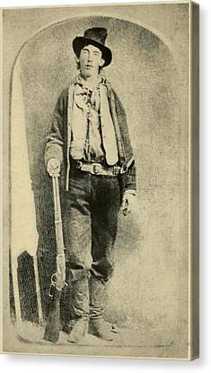 Billy The Kid 1859-81, Killed Twenty Canvas Print by Everett