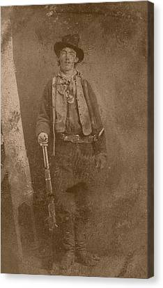 Billy The Kid Canvas Print by War Is Hell Store