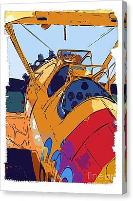 Biplane Canvas Print by Diane E Berry