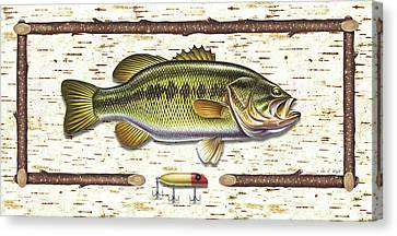 Birch Bass Canvas Print by JQ Licensing