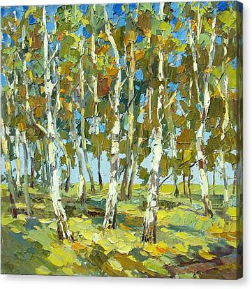 Birch Forest Canvas Print by Dmitry Spiros