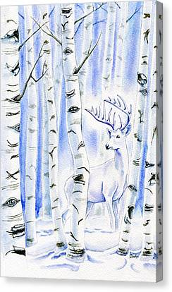 Birch Spirit Canvas Print by Antony Galbraith