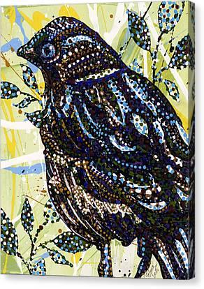 Bird Canvas Print by Erika Pochybova