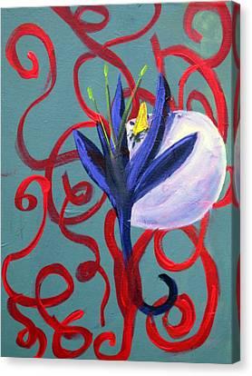Bird Escape Canvas Print by Rebecca Merola