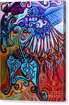 Bird Heart II Canvas Print by Genevieve Esson