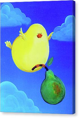 Bird In The Air Canvas Print by Lael Borduin