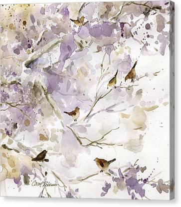 Bird In The Bush 1 Canvas Print by Carol Robinson