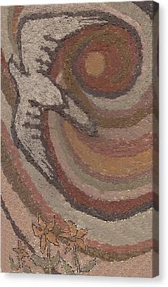 Bird Of Desert Sand Canvas Print by Dawn Senior-Trask