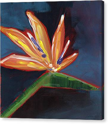 Bird Of Paradise- Art By Linda Woods Canvas Print by Linda Woods