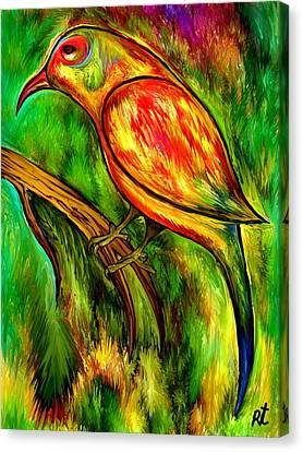 Bird On A Branch Canvas Print by Rafi Talby
