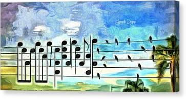 Bird Orchestra - Da Canvas Print by Leonardo Digenio