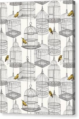 Birdcages Canvas Print by Stephanie Davies