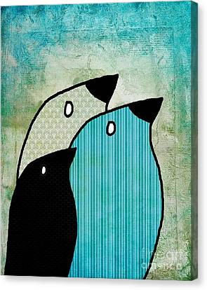 Birdies - 6904a Canvas Print by Variance Collections