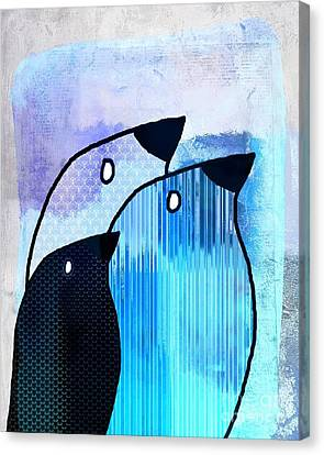 Birdies - Sp6905bj122b Canvas Print by Variance Collections