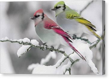 Birds Canvas Print by Nixo Nixolas