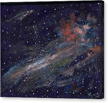 Birth Of A Galaxy Canvas Print by Elizabeth Lane