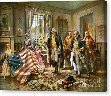 Birth Of Old Glory, 1777 Canvas Print by Science Source