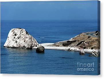 Birth Place Of Aphrodite Canvas Print by John Rizzuto