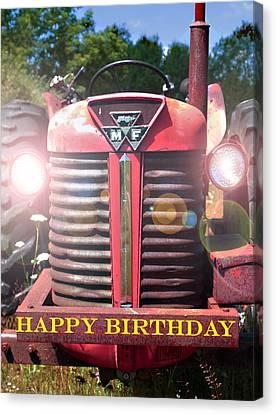 Birthday Card -- Big M-f Canvas Print by Bob Johnson