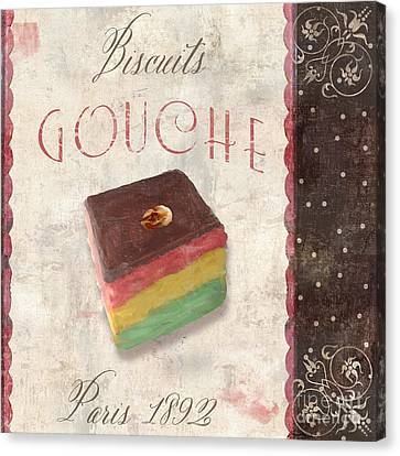 Biscuits Gouche Patisserie Canvas Print by Mindy Sommers