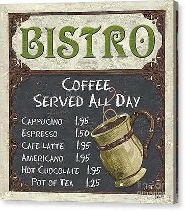 Bistro Chalkboard  Canvas Print by Debbie DeWitt