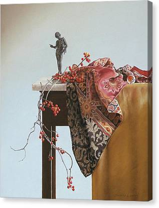 Bittersweet With Bronze Canvas Print by Barbara Groff