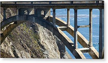 Bixby Bridge Truss Canvas Print by Juan Romagosa