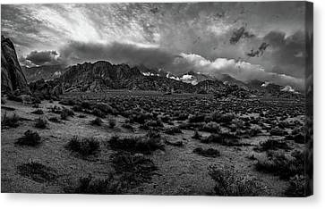 Black And White Alabama Hills Canvas Print by Michele James