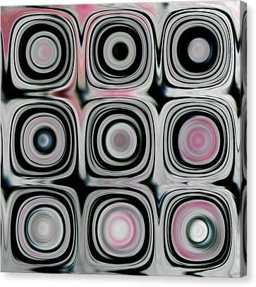 Black And White Circles H Canvas Print by Patty Vicknair