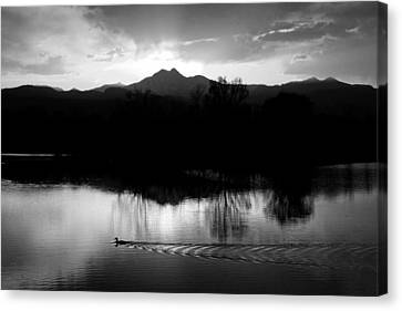 Black And White Lake Sunset Canvas Print by James BO  Insogna